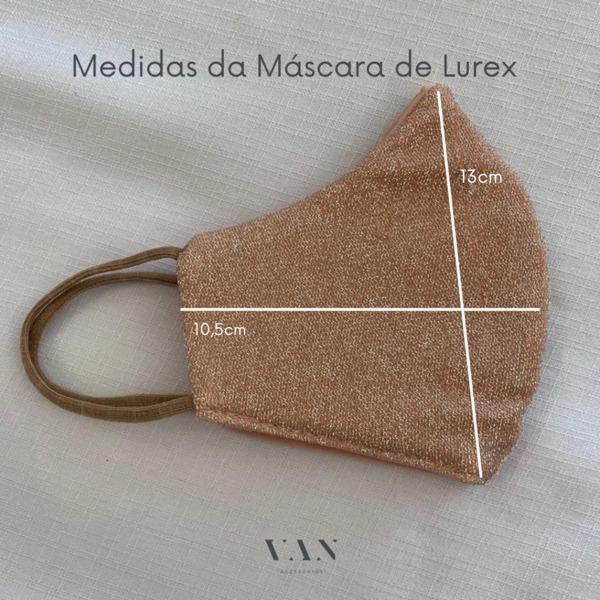 Máscara Lavável Lurex com Brilho Rosa Com Necessaire