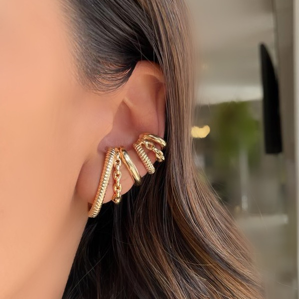 Mix Ear Hook + Piercing Puro Glamour