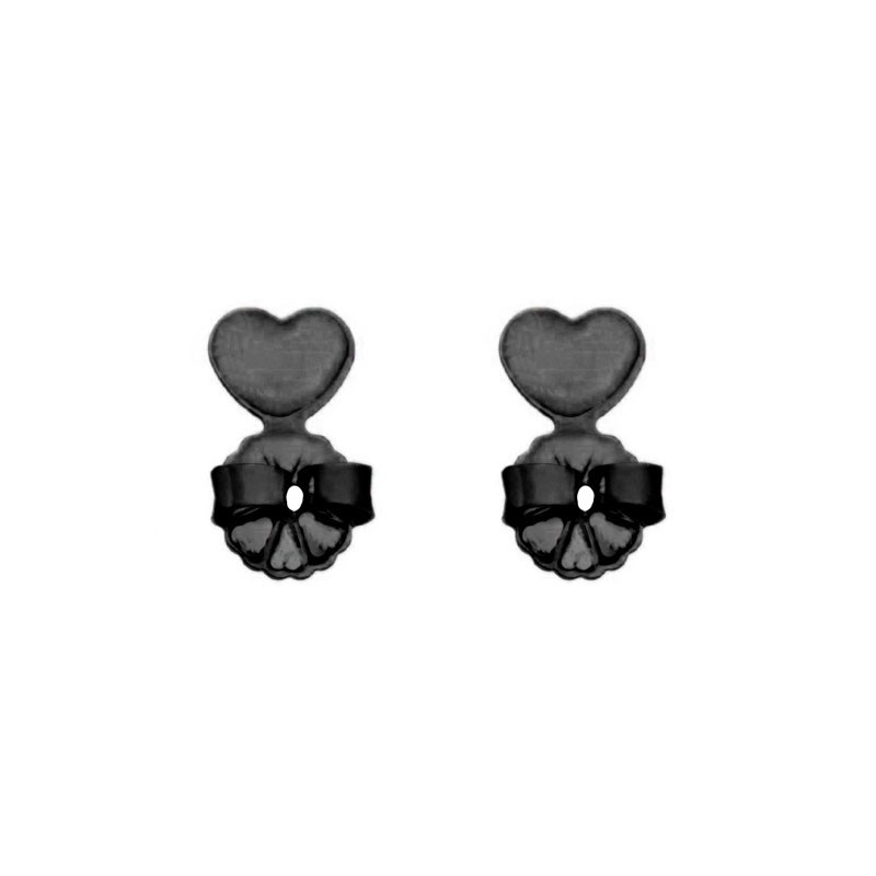 Tarracha de Sustentação com coração Ródio Negro