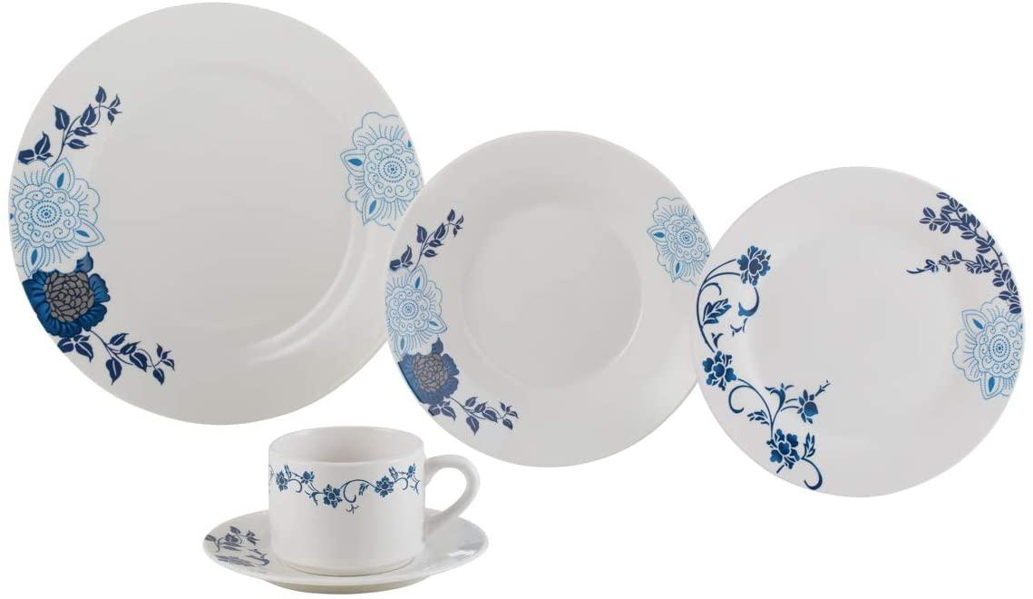 Aparelho De Jantar 20 Peças Lyor 2138 Classic Porcelana Branco