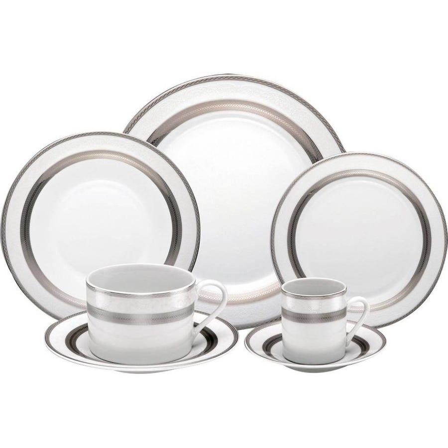 Aparelho De Jantar 42 Peças de Porcelana Silver Sky Mail Box 11029 - Rojemac