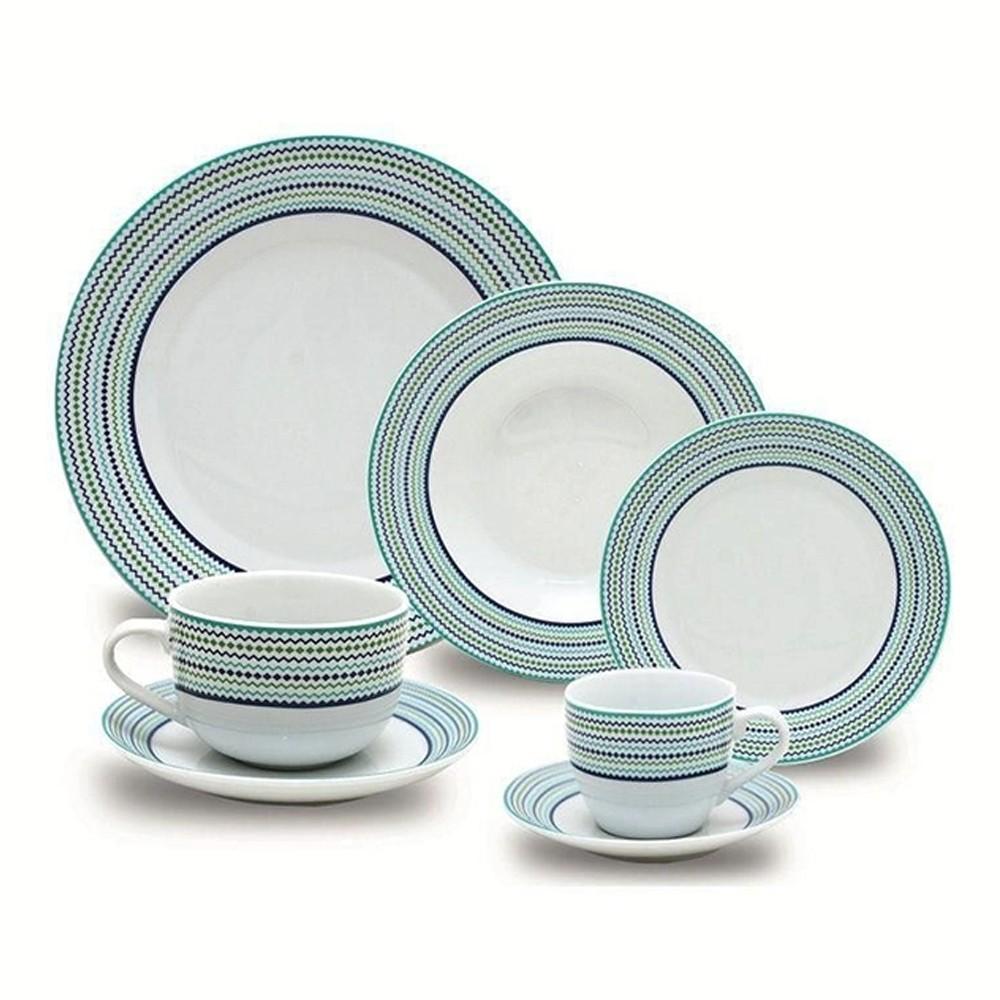 Aparelho De Jantar 42 Peças Porcelana Fina Class Home