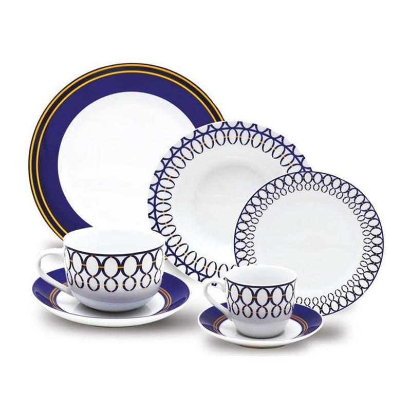 Aparelho de Jantar, chá e sobremesa Class Home 42 Peças Porcelana Fina