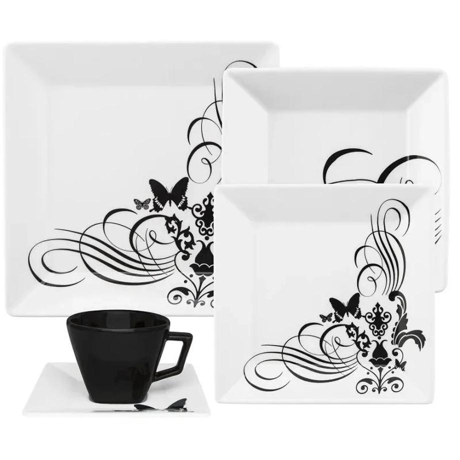 Aparelho de Jantar e Chá 20 Peças Porcelana Quartier Tattoo Oxford