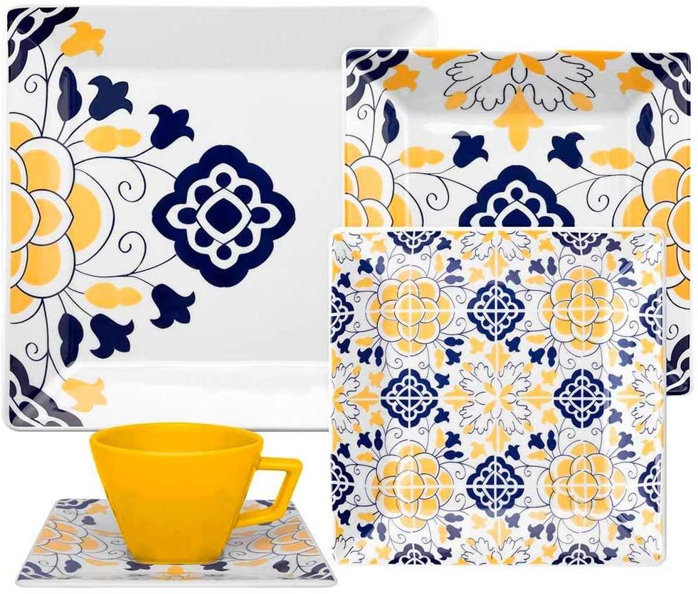 Aparelho de Jantar e Chá 20 Peças Quartier Sevilha -  Oxford Porcelanas