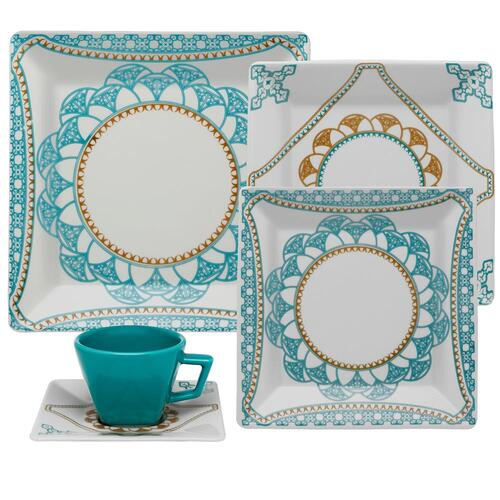 Aparelho de Jantar e Chá 30 Peças Porcelana Quartier Domo - Oxford