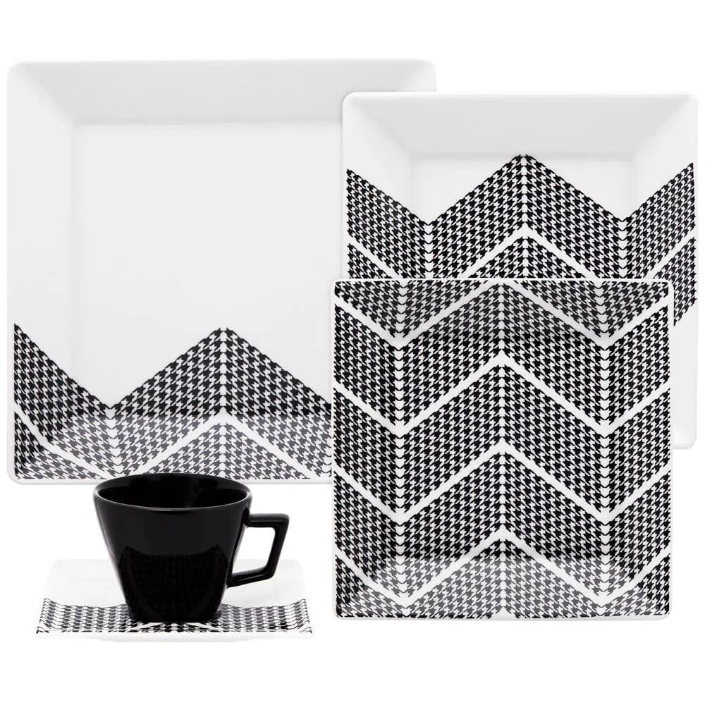Jogo de Chá e Jantar em Porcelana Quartier Pier oxfod c/ 20 peças
