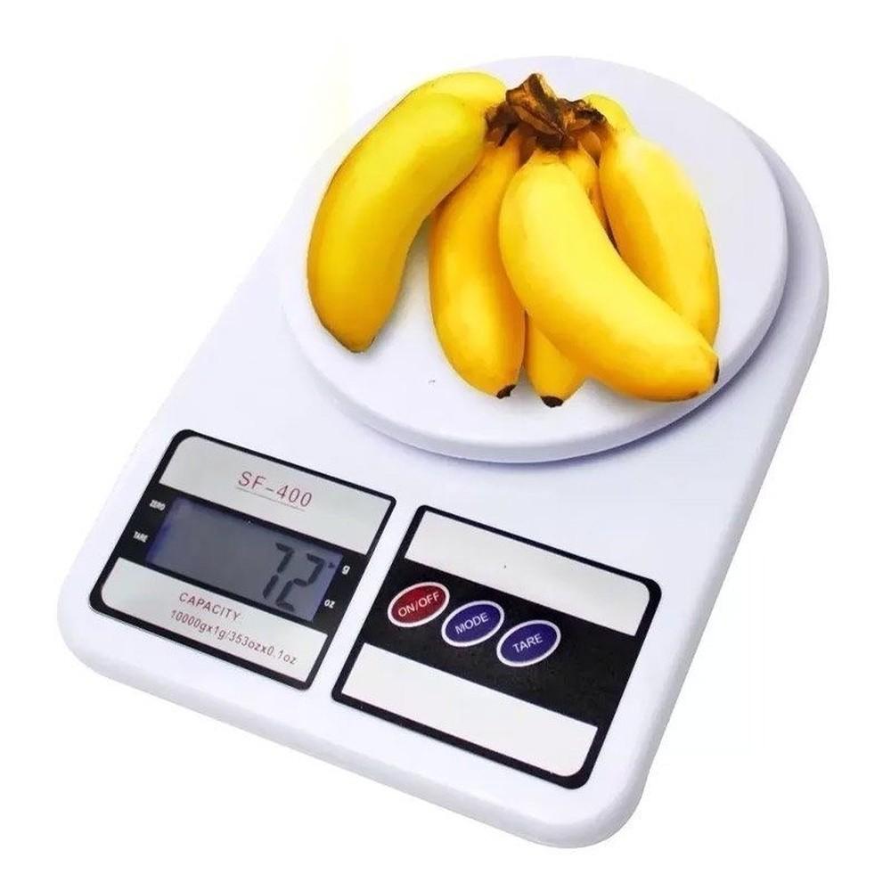 Balança Digital Cozinha 10kg Precisão Nutrição Dieta SF400
