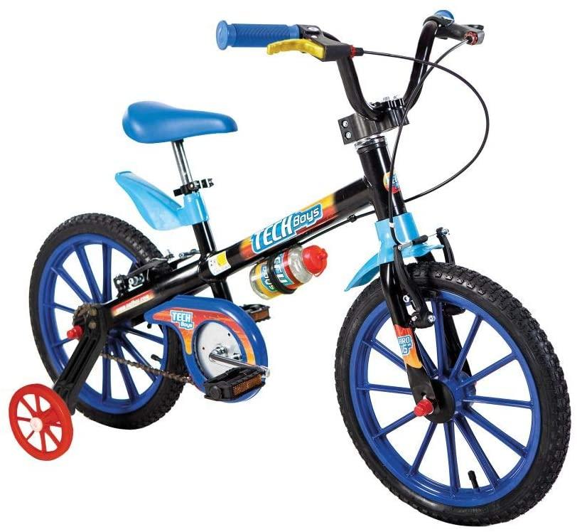 Bicicleta Aro 16 Nathor Tech Boys - Preto/Azul