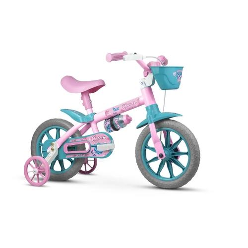 Bicicleta Infantil Aro 12 Com Rodinhas Menina Charm - Nathor