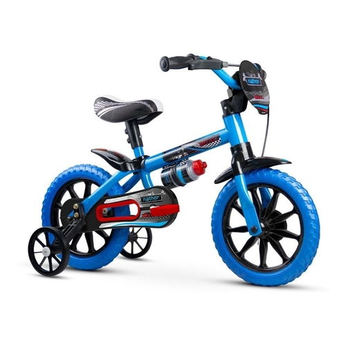 Bicicleta Infantil Azul Aro 12 Veloz 3 A 5 Anos Nathor