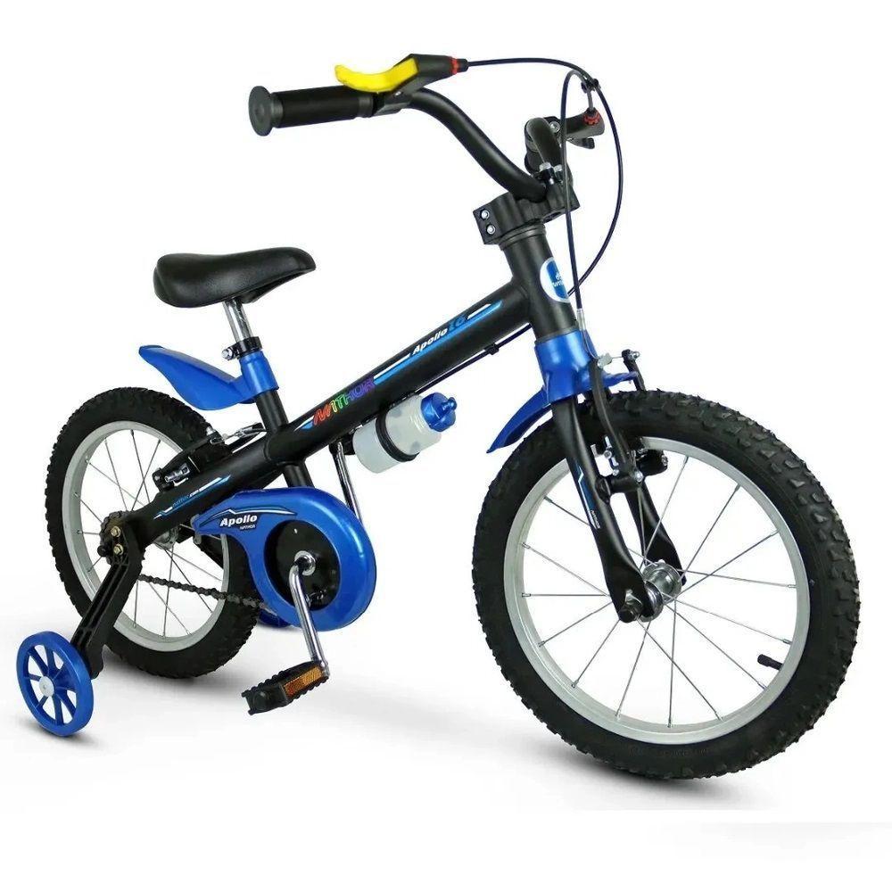 Bicicleta Infantil com Rodinhas - Aro 16 - Apollo - Azul - Nathor