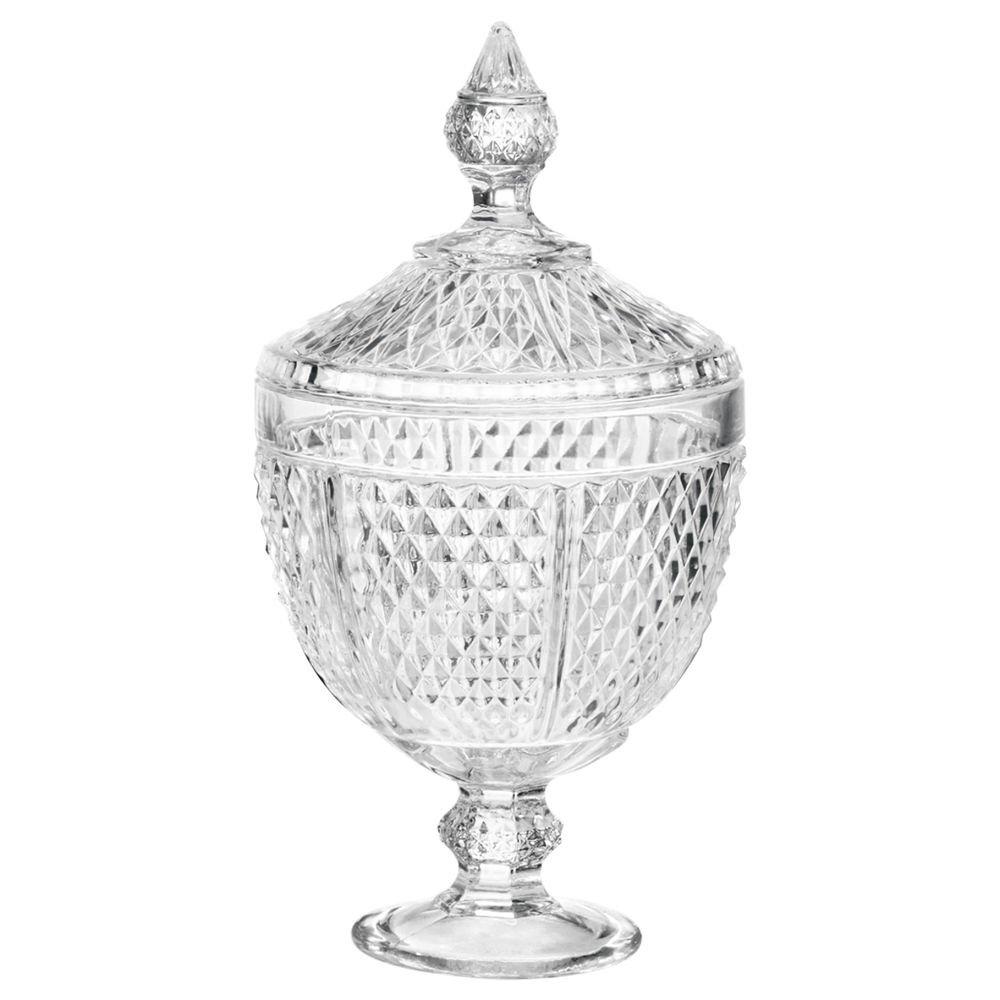 Bomboniere De Cristal Perseu 15x28cm Lyor Transparente