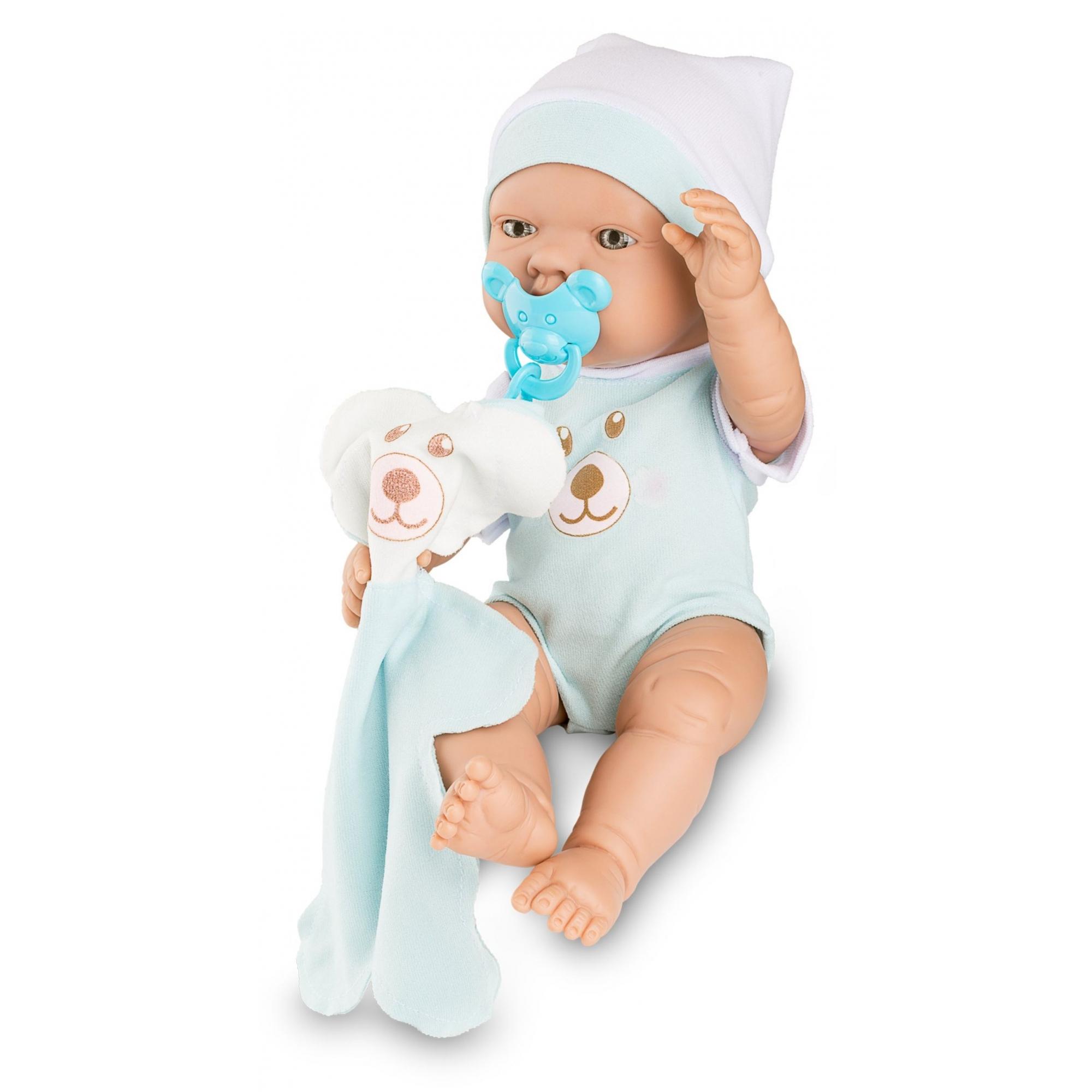 Boneca Bebezinho Real - Azul - Roma Brinquedos