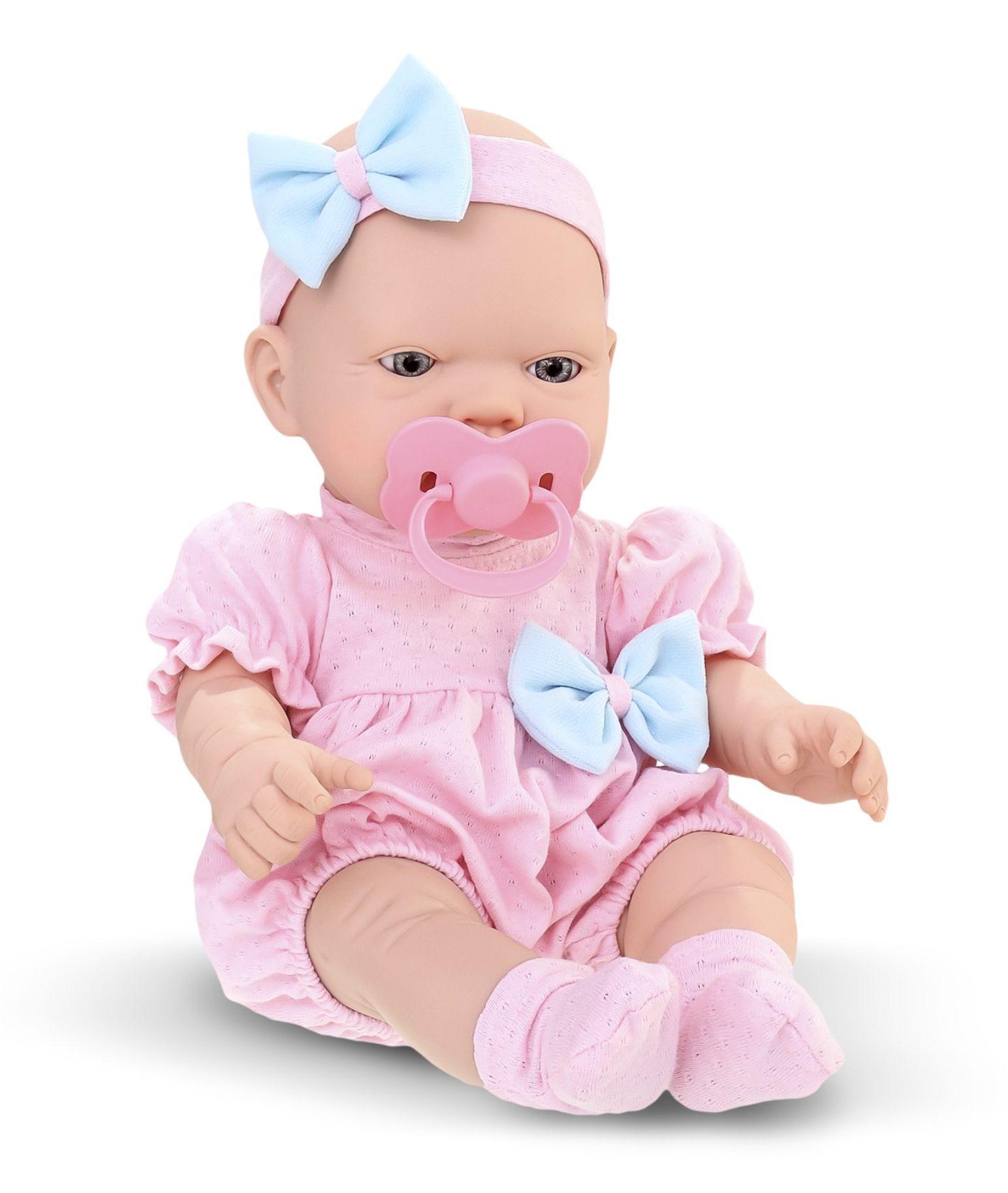 Boneca Bebezinho Real - Primeiros Cuidados Menina Coleção Gêmeos - Roma Brinquedos