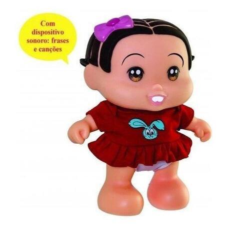 Boneca Mônica Turma Da Mônica Baby Fala Frases - Adijomar