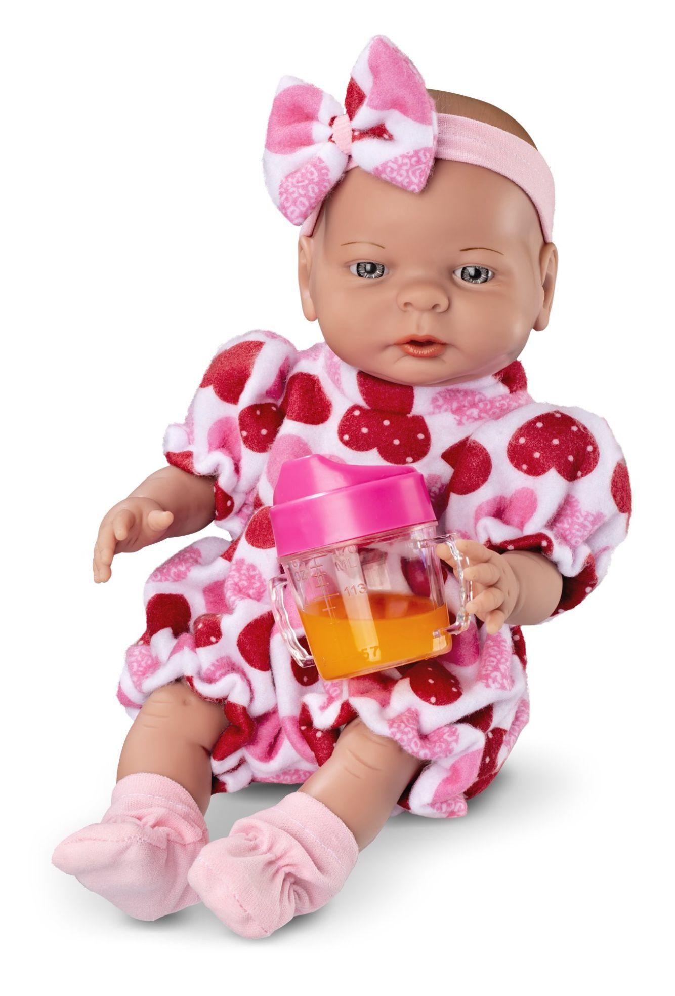 Boneca Roma Babies - Primeiras Comidinhas - Com Acessórios - Roma Brinquedos
