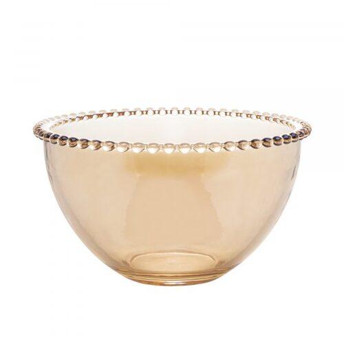 Bowl em cristal Wolff Pearl 21x12cm âmbar