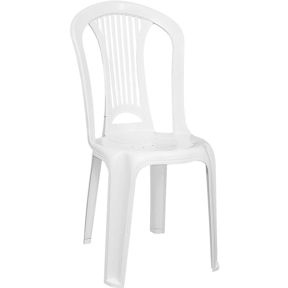 Cadeira Plástica Branca Sem Braço Atlântida - Tramontina
