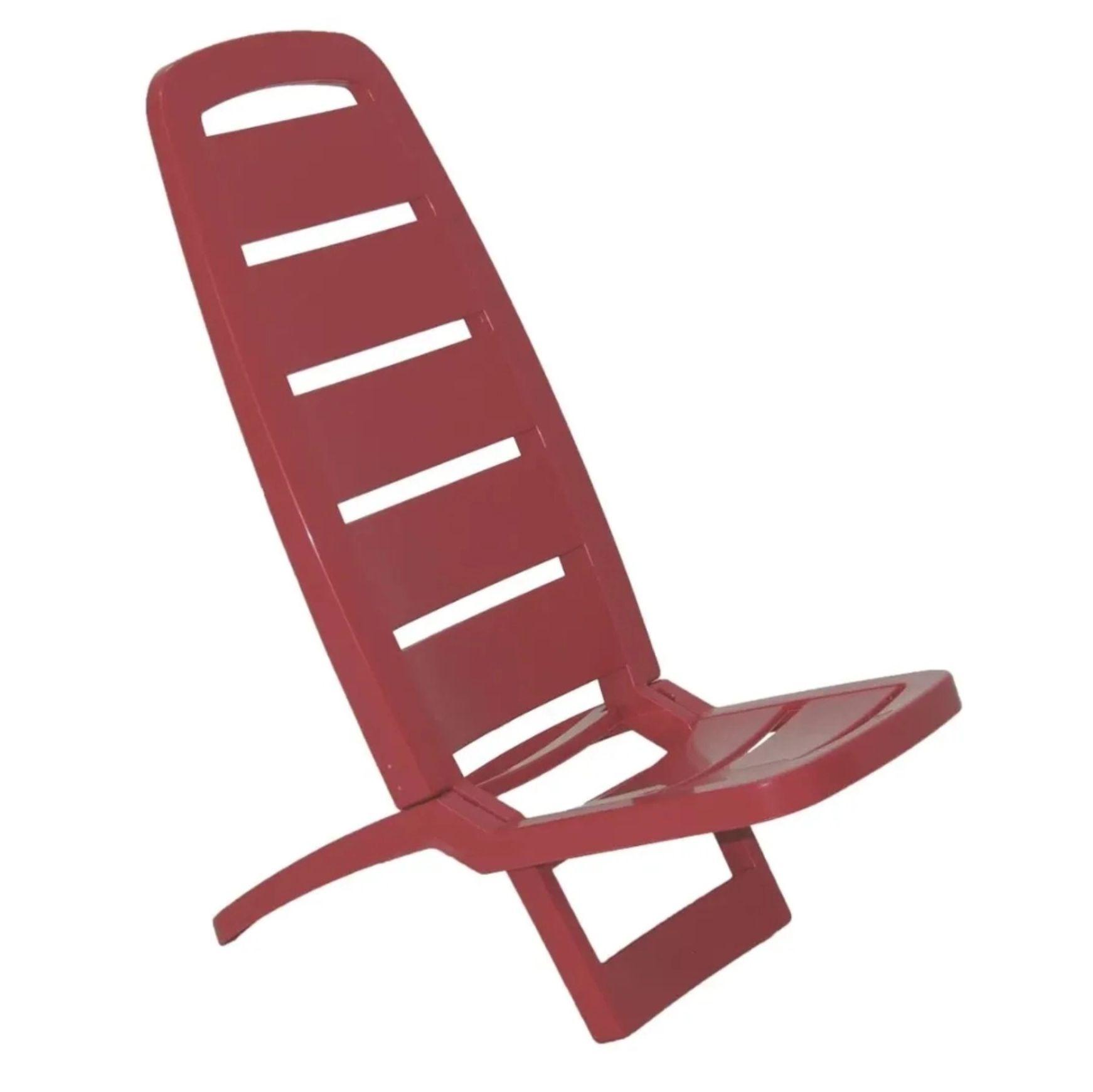 Cadeira Guarujá em Polipropileno Vermelho - Tramontina