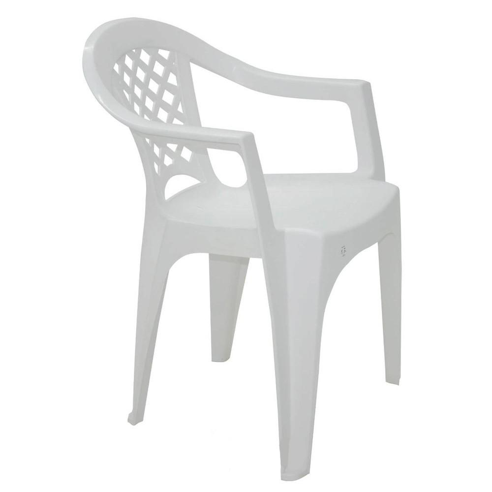 Cadeira Iguape Basic com Braços em Polipropileno Branco - Tramontina