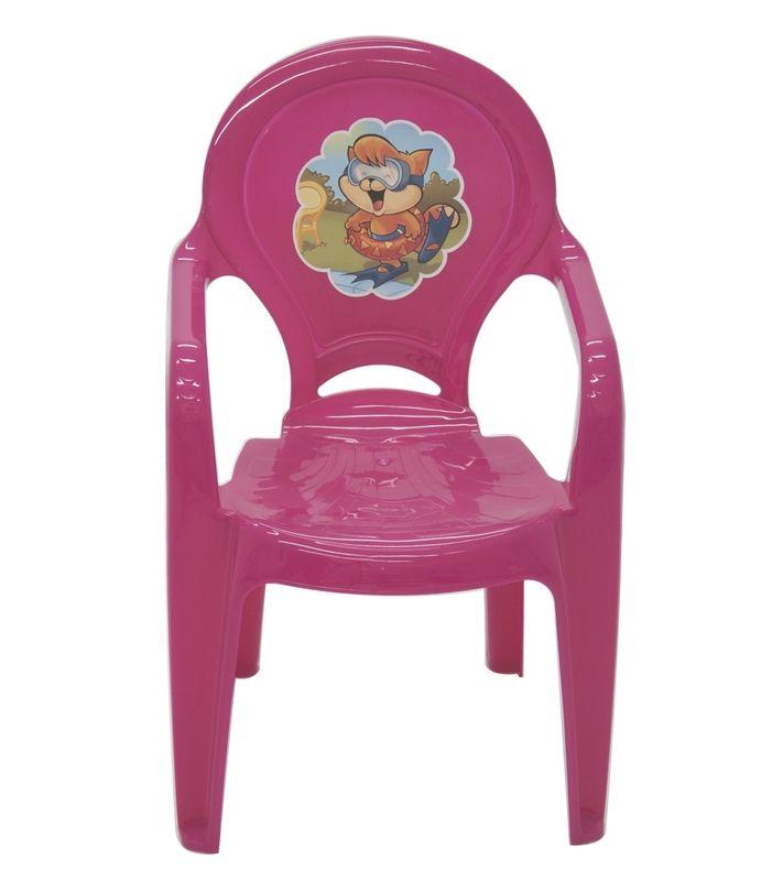 Cadeira Infantil Catty em Polipropileno Rosa Adesivado - Tramontina
