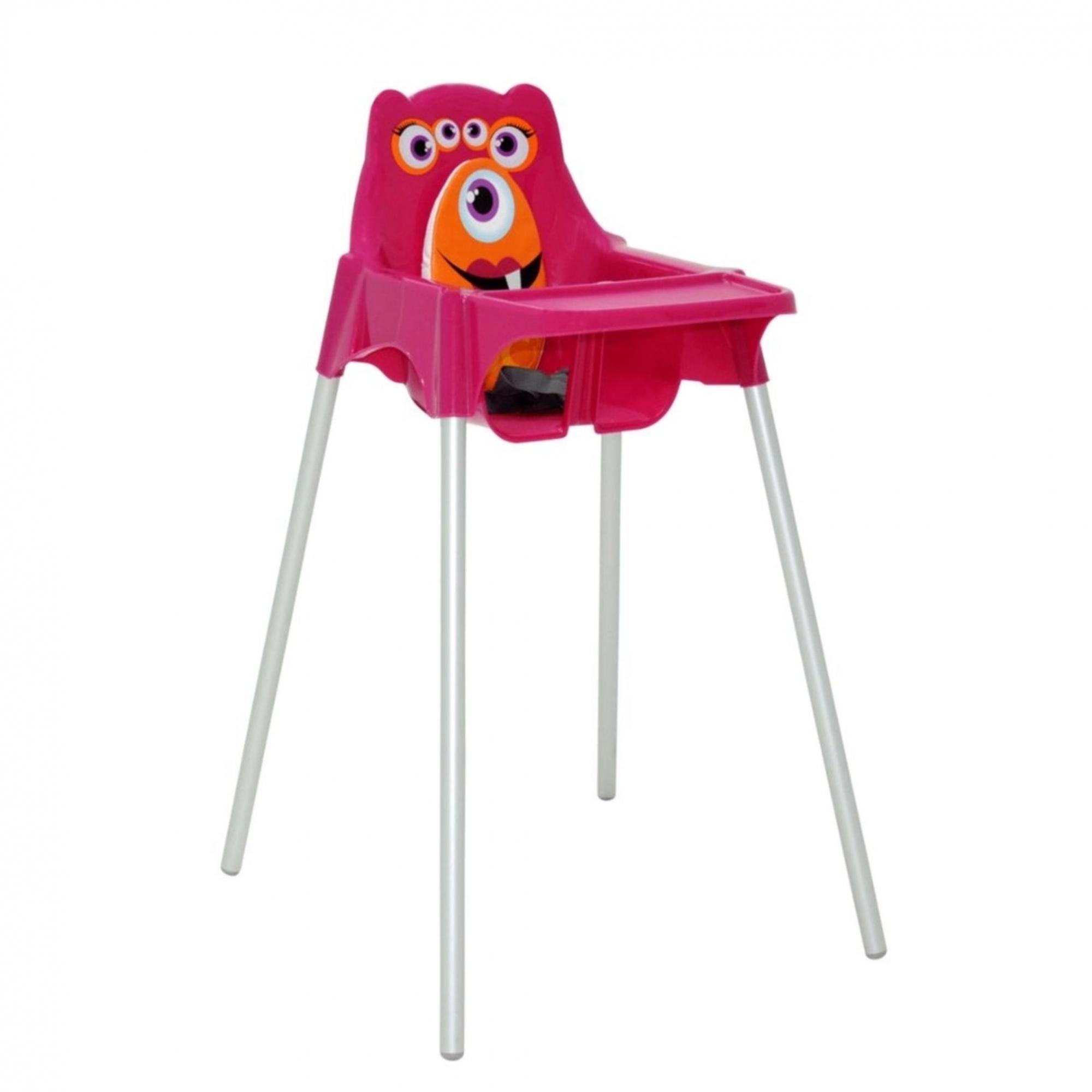 Cadeira Infantil Para Refeição Monster Rosa - Tramontina