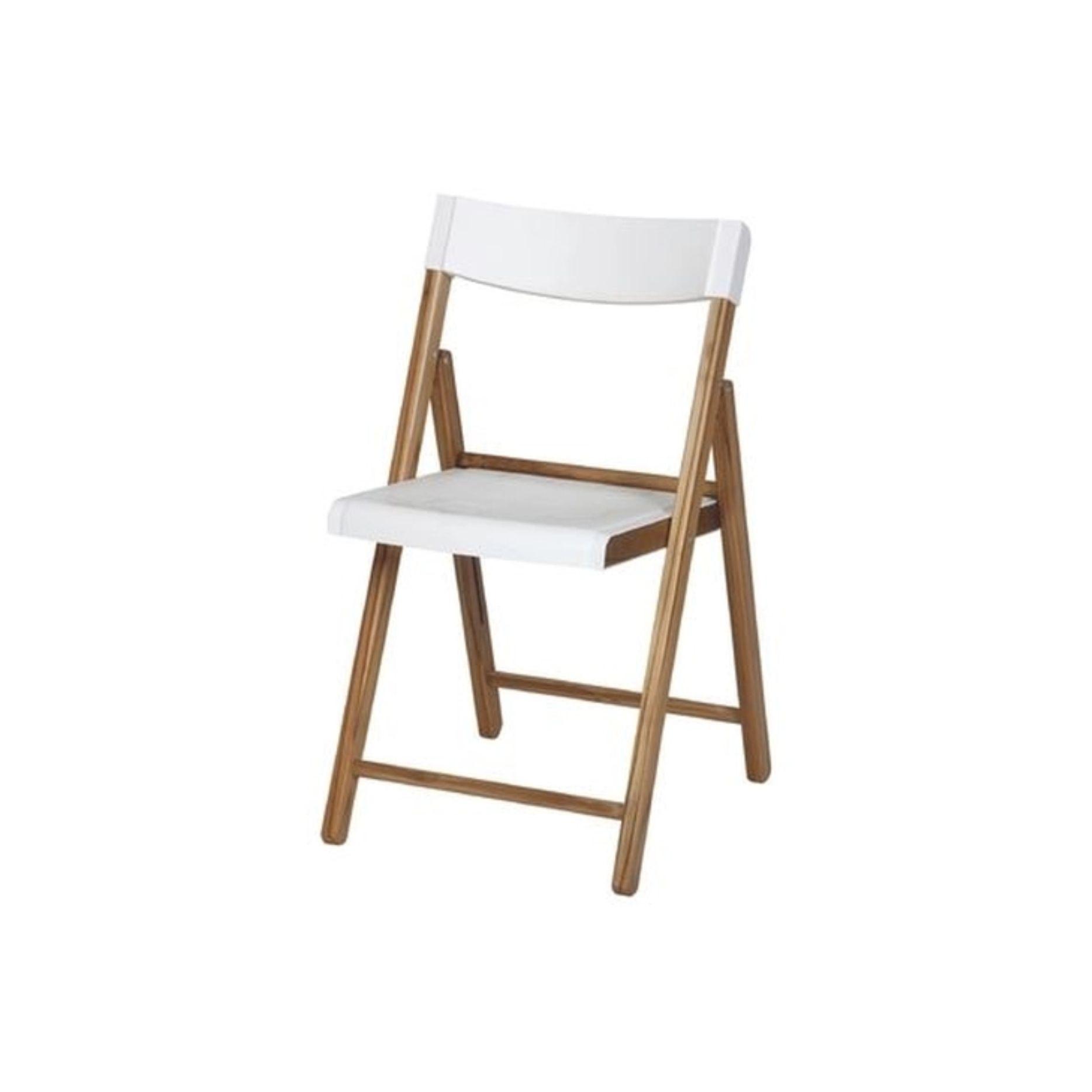 Cadeira Potenza Teca Branco - Tramontina