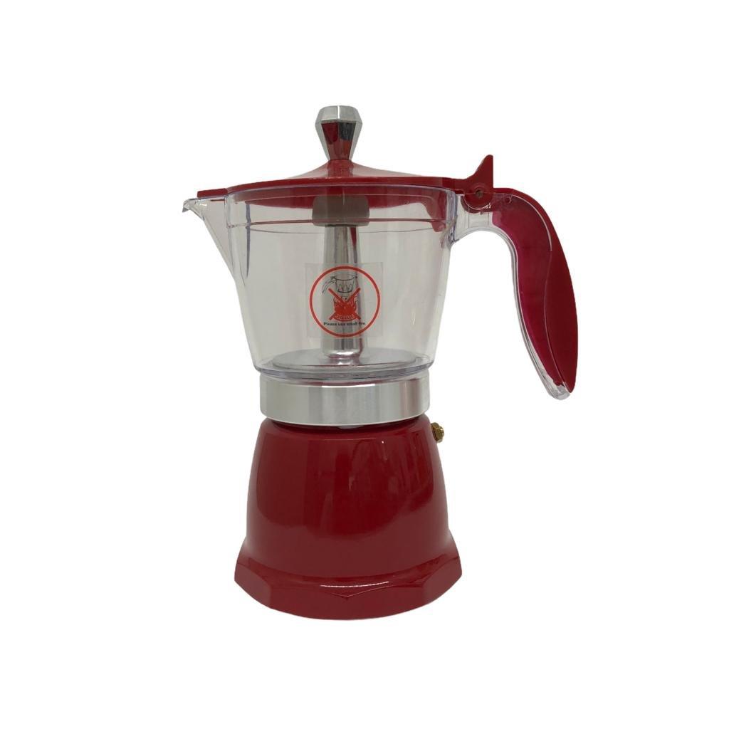 Cafeteira Italiana 300ml Vermelha - Wincy