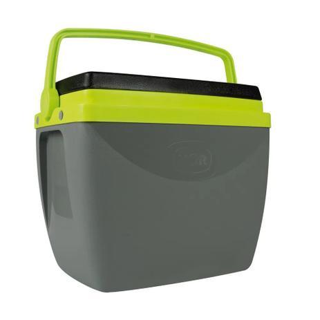 Caixa Térmica 18L Cinza Com Verde