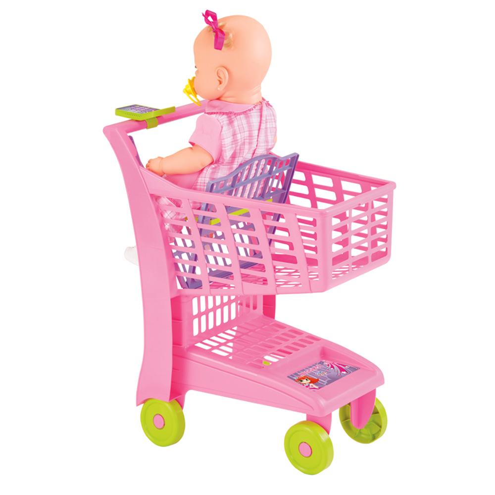 Carrinho de Compras Market Rosa - Magic Toys