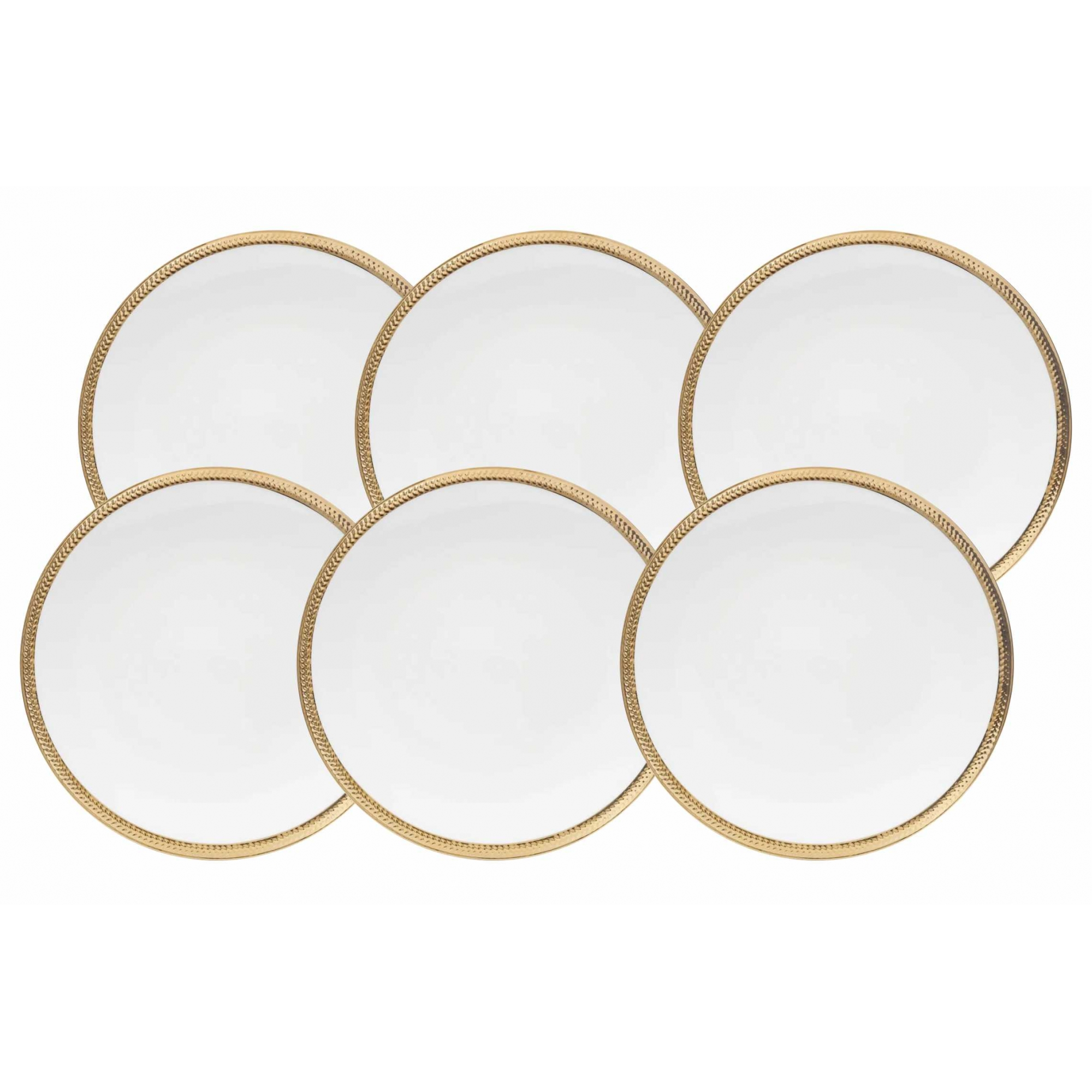 Conjunto 6 Pratos Rasos Porcelana Paddy 27cm - Rojemac