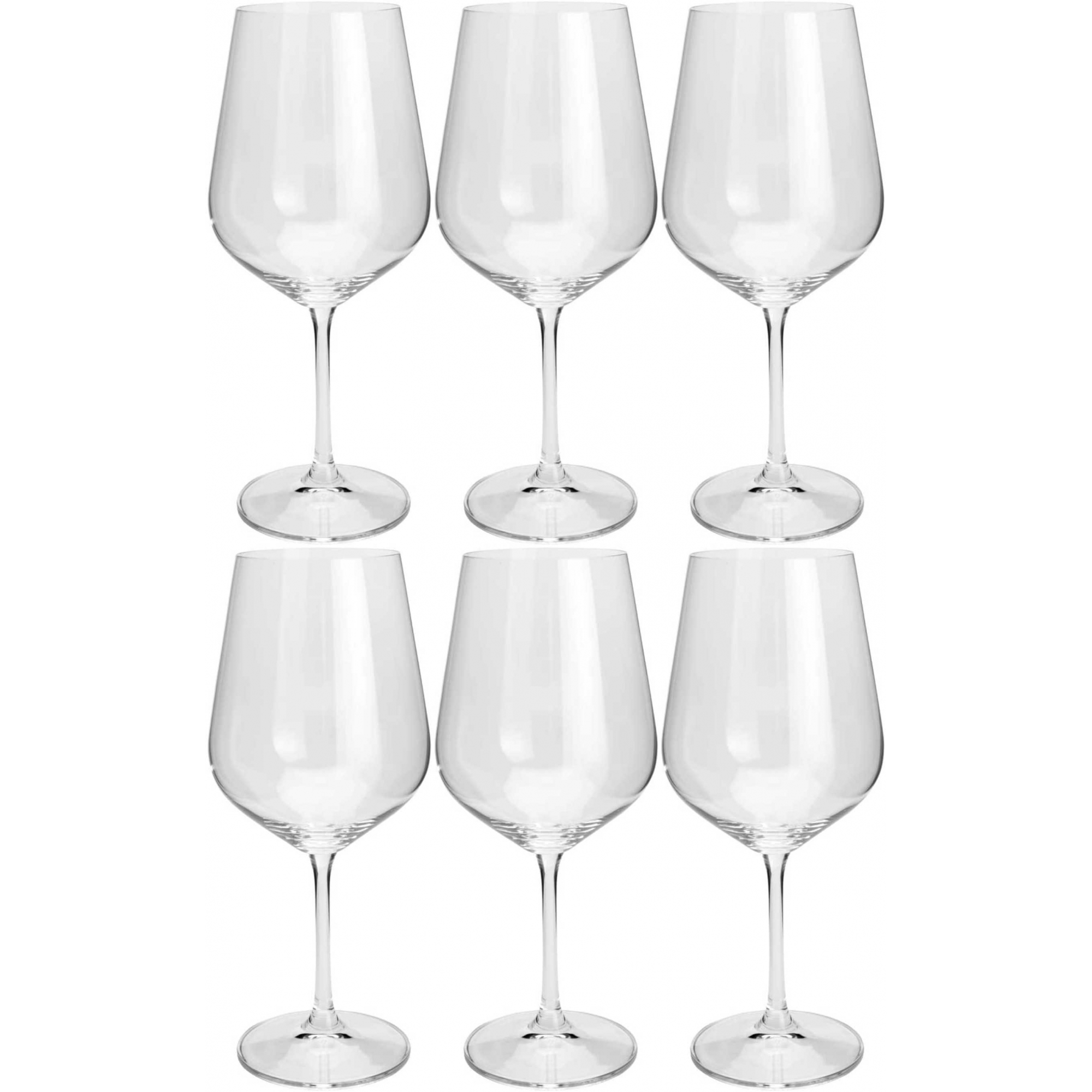 Conjunto 6 Taças 580ml Para Água de Cristal Ecologico Strix - Lyor