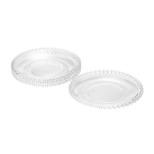 Conjunto com 4 Pratos 19cm Cristal Pearl - Rojemac