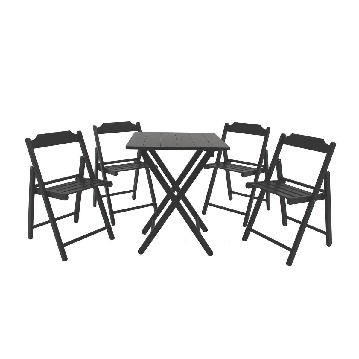 Conjunto de Mesa e Cadeiras Dobráveis Beer Tabaco 5 Peças - Tramontina