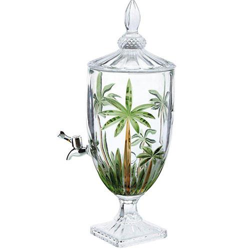 Dispensador para Bebidas em Cristal Palm Tree com capacidade para 4,5 Litros