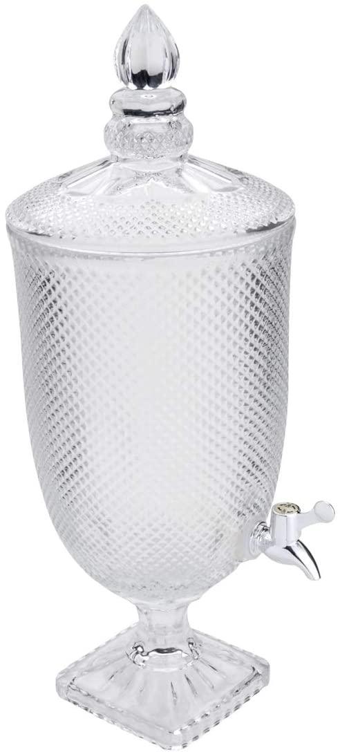 Dispenser de Cristal Bico de Jaca Transparente 4,4l - Lyor