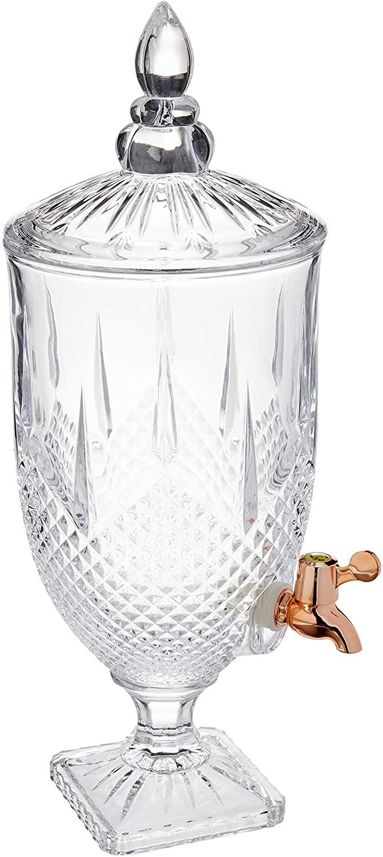 Dispenser/Suqueira 5L de Cristal Ecológico Com Torneira Gold Rose Diamante - Lyor
