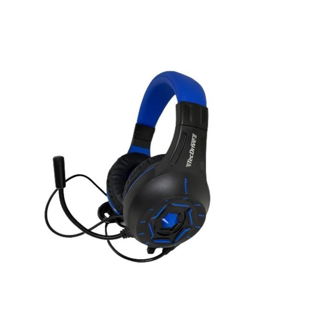 Fone De Ouvido Headset Gamer Px-11 Com Microfone Azul