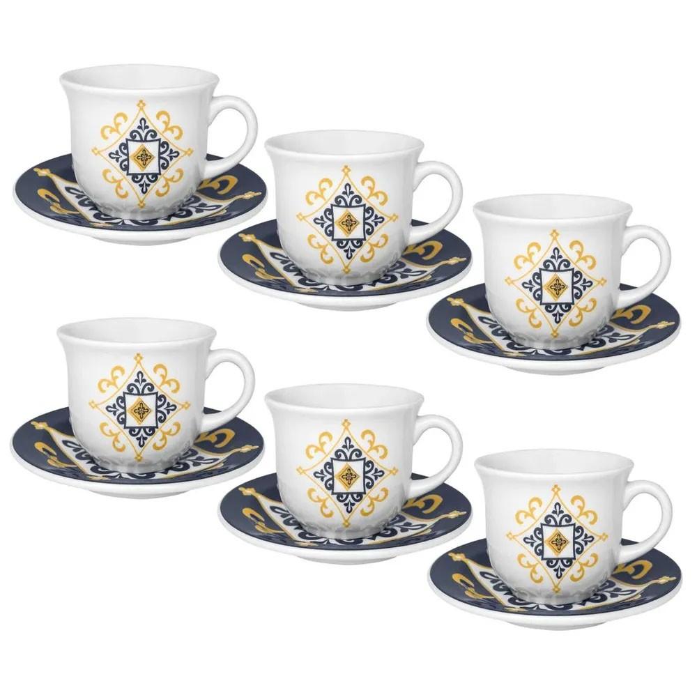 Jogo 06 Xícaras Chá Floreal São Luis - Oxford