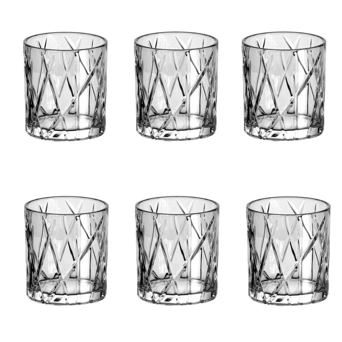 Jogo 6 Copos Whisky 310ml Forest Baixo de Cristal Ecologico