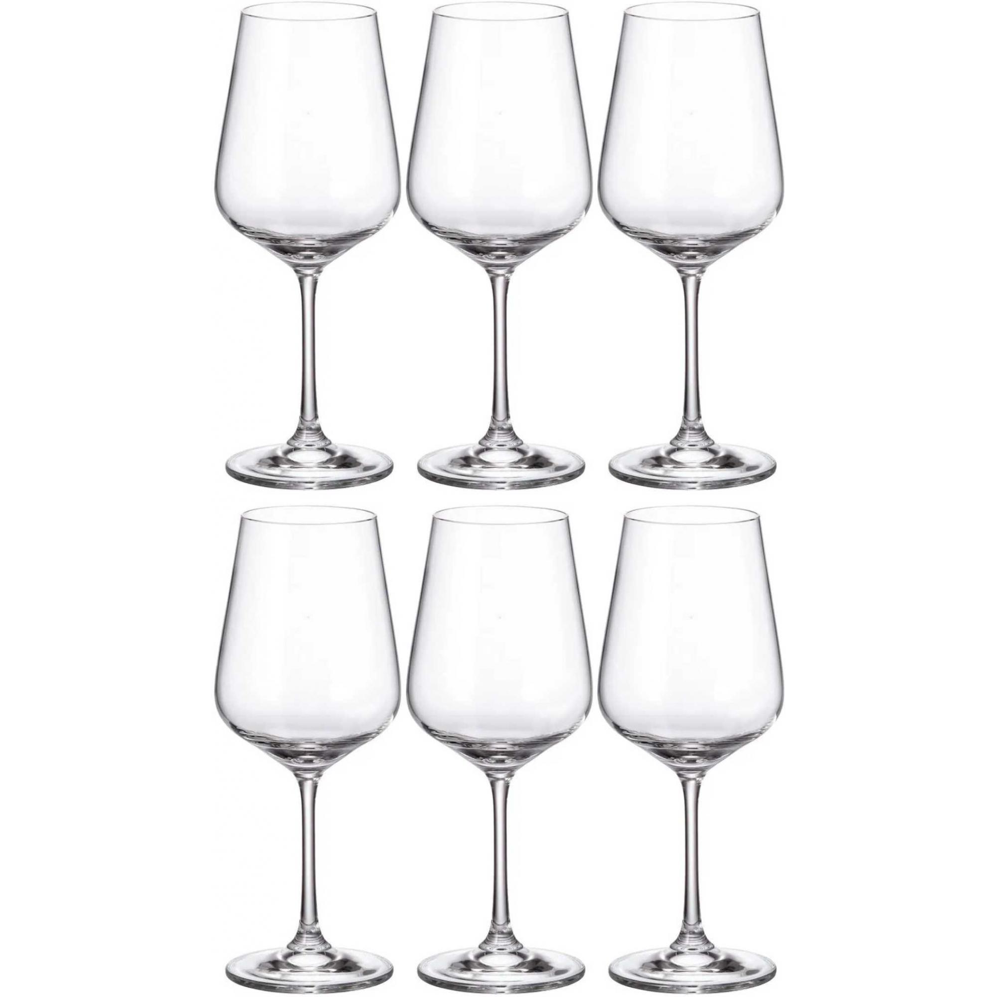Jogo 6 Taças para Vinho Tinto 450ml CristaL Bohemia