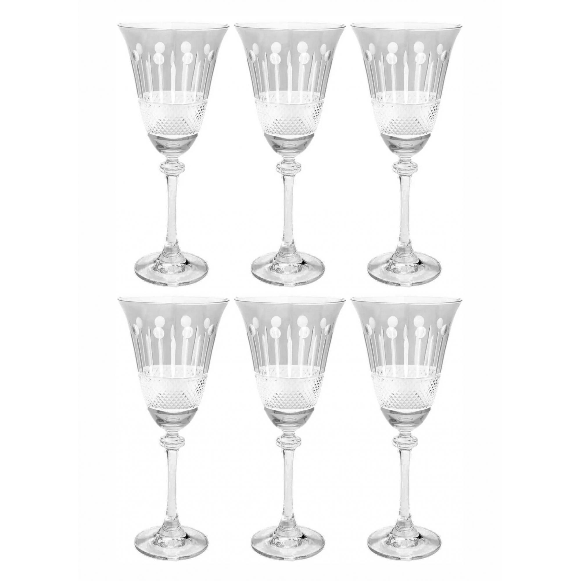 Jogo de 6 Taças em Cristal Ecológico para Vinho Alexandra - 250ml