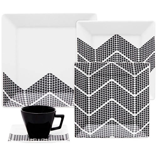 Jogo de Chá e Jantar em Porcelana Quartier Pier oxfod com 20 peças
