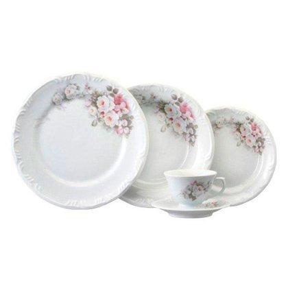 Jogo de jantar e chá  c/ 42 peças eterna porcelana Schmidt