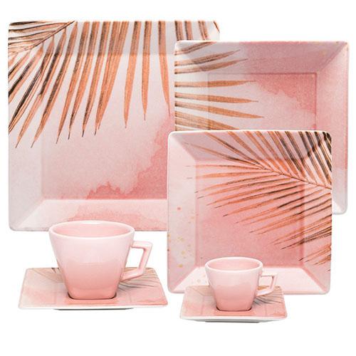 Jogo Jantar Chá Café 30 Peças Quartier Bossa Oxford Porcelanas