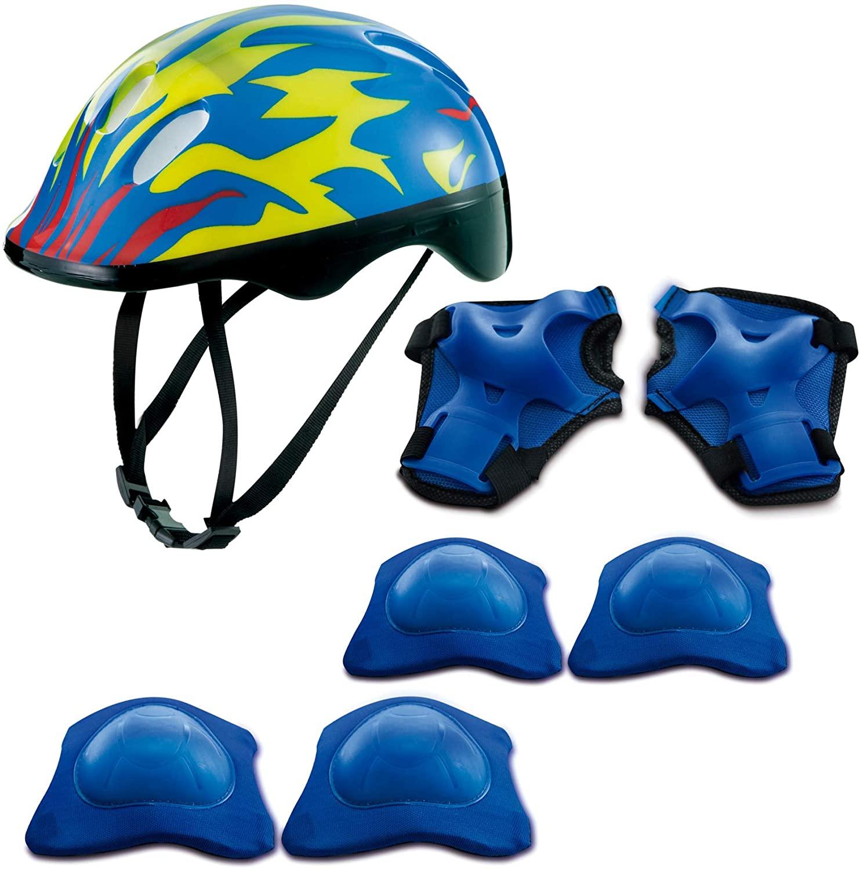 Kit De Proteção Azul Chamas C/cap Mimo Style Azul