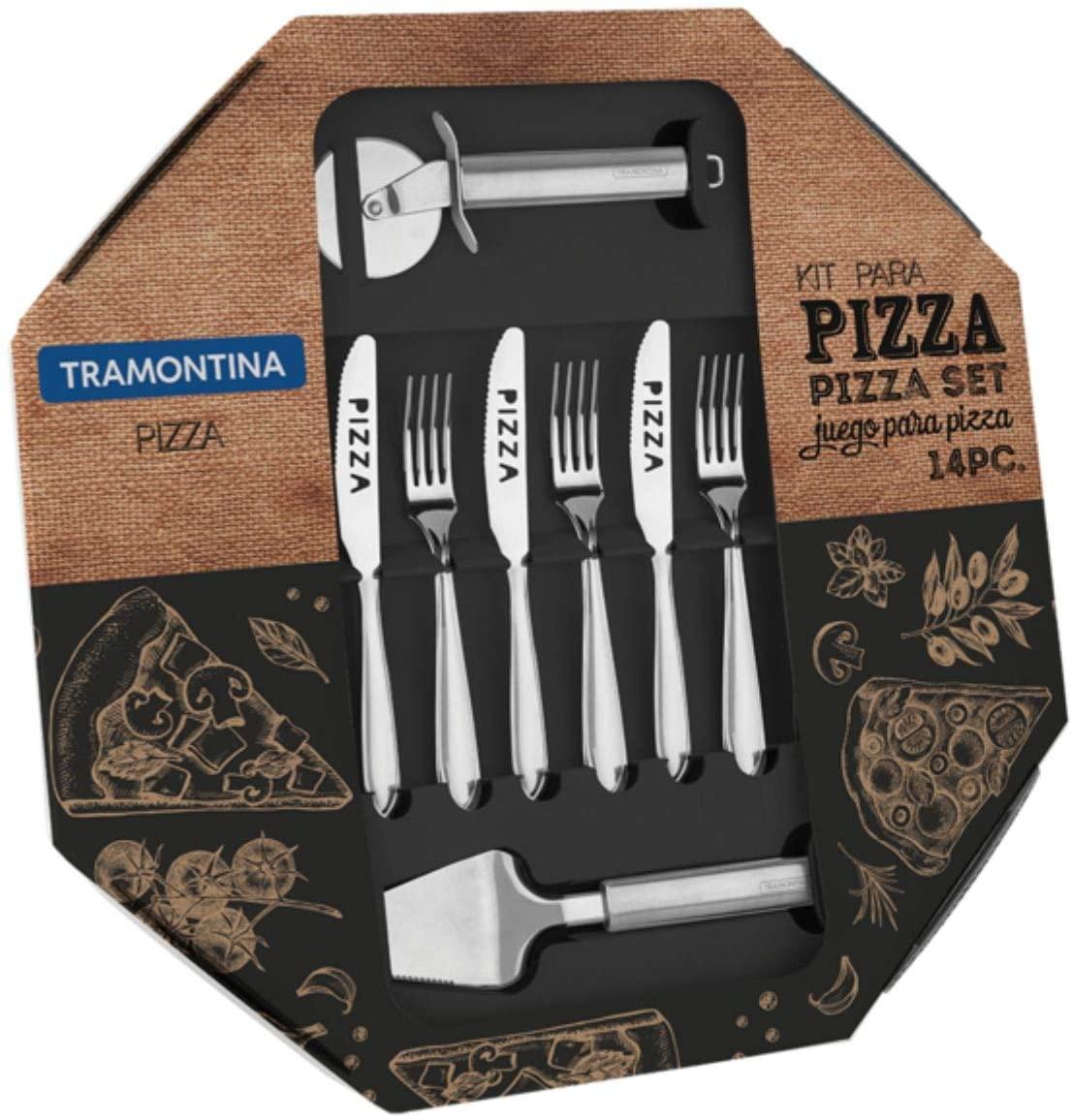 Kit para Pizza Laguna em Aço Inox 14 peças - Tramontina