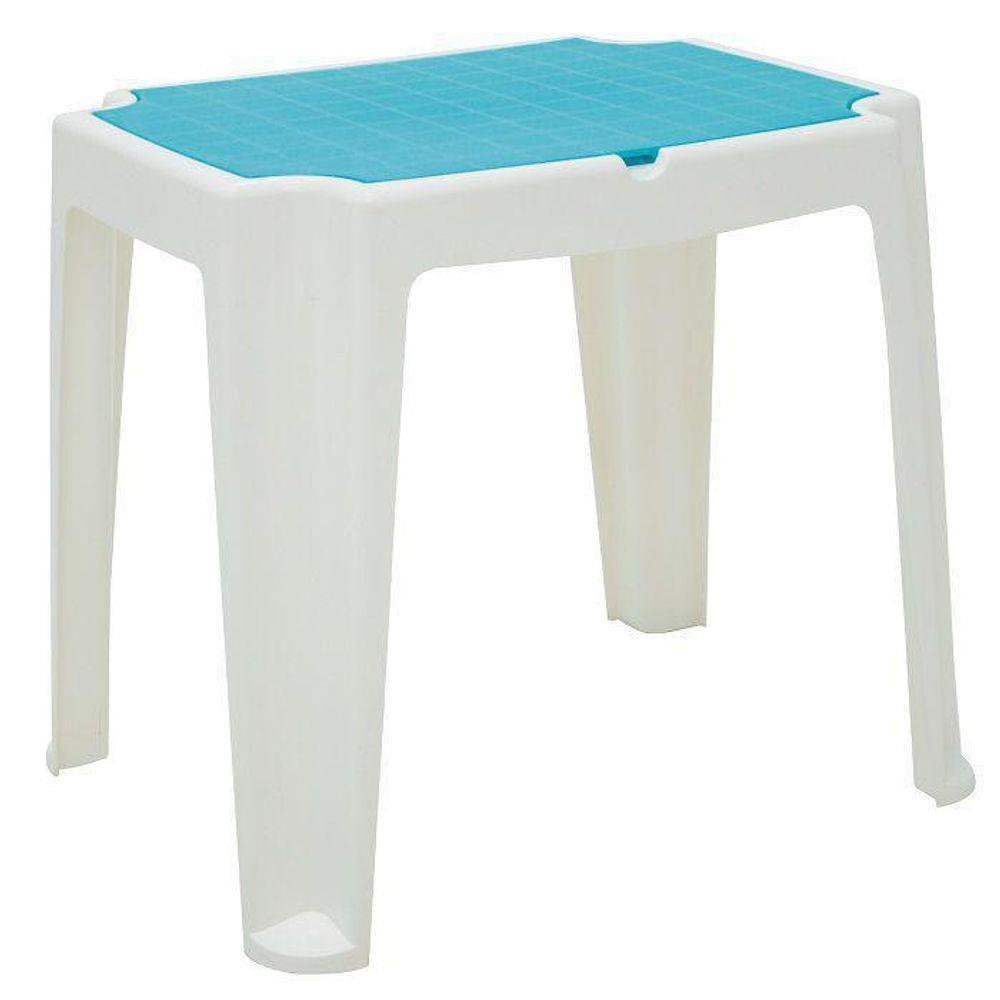 Mesa Infantil em Polipropileno Versa Branca e Azul - Tramontina