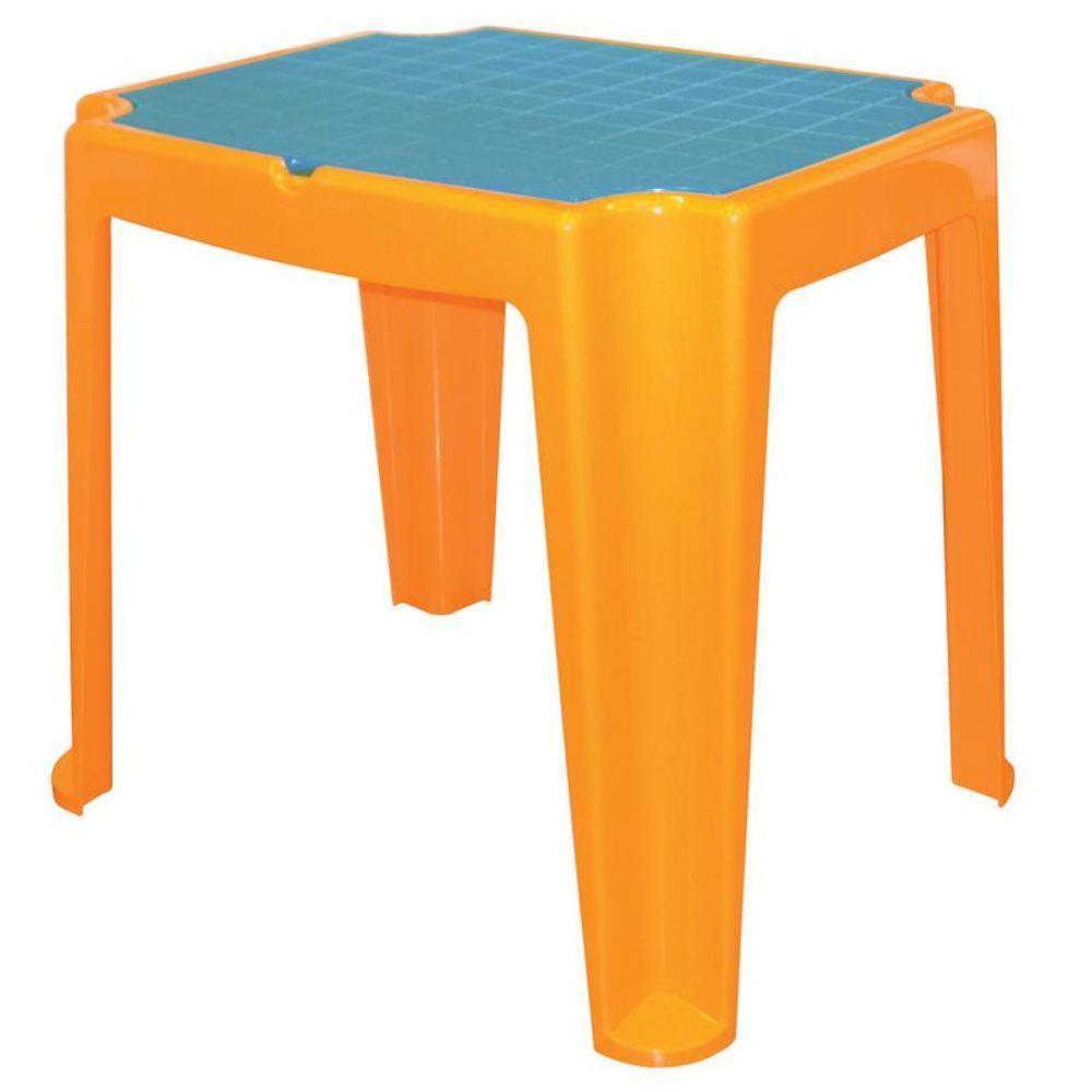 Mesa Infantil em Polipropileno Versa Laranja e Azul - Tramontina